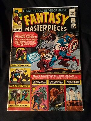 Fantasy masterpieces 4 (Marvel 1966) *SIGNED BY JACK KIRBY AND STAN LEE