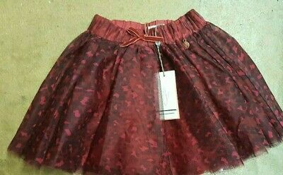 Girls skirt tulle animal print age 3 4 5 6 7 8 9 10 years RRP £30 red party
