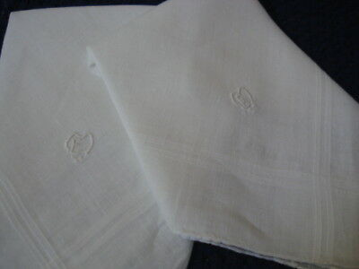Vintage Handkerchief # Monogram E M  # Wedding