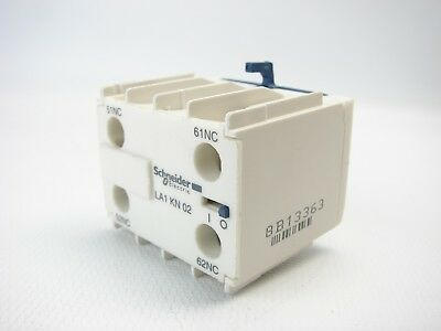 Schneider Elec. LA1KN02 TESYS K AUXILIARY CONTACT BLOCK 2NC SCREW CLAMPS (T81)