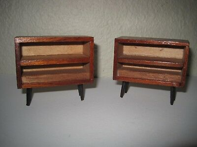 2  Mid-century Modern Dollhouse Furniture  Bookcase
