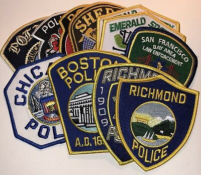 Law Enforcement Patch Bundle  Police Sheriff Police State City Local Department