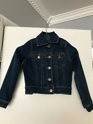 girls TRACTOR denim jacket age 7