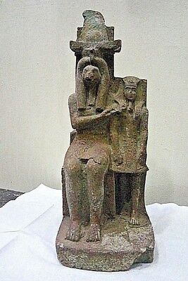 RARE ANCIENT EGYPTIAN ANTIQUE AMENHOTEP III with The Idol Sobek 1386-1349 BC