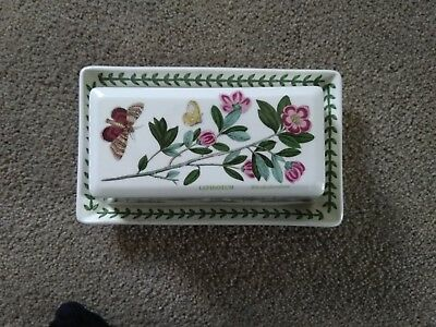Beautiful Vintage Portmeirion  Botanic Garden  Butter Dish Pre-owned