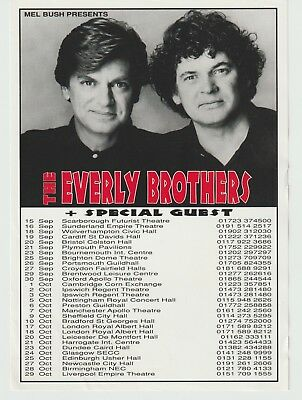 The Everly Brothers Concert Flyer For Their Comeback Tour