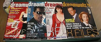 (18) Dreamwatch Magazine Bundle 4 Issues X-Files Xena Terminator Buffy