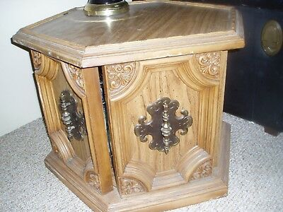 2 end tables one is hexagonal and one is square **pick up only**
