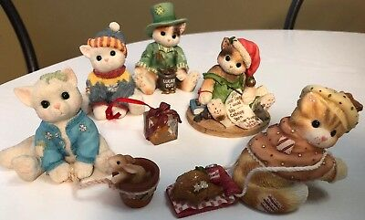 Calico Kittens By Enesco Lot Of 5 Figurines