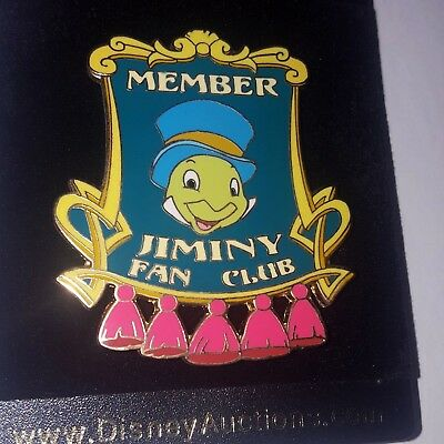 Disney Jiminy Cricket Pin Fan Club Member 34682 Disney Auctions (P.I.N.S.) LE