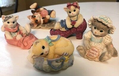 Lot Of 5 Calico Kittens By Enesco.