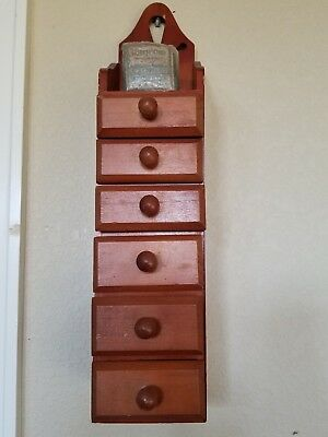 1800S Apothecary 6 Drawer Wall Mount Cabinet Each Drawer Has Medicine Pack