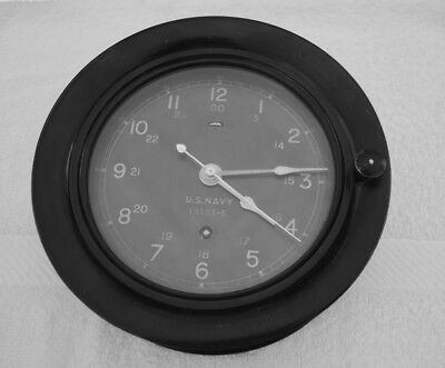 WWII Vintage US NAVY SHIP'S DECK CLOCK Made by Seth Thomas