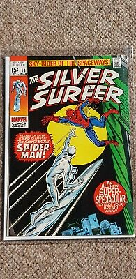Marvel silver surfer number 14 Spider-Man cover kirby