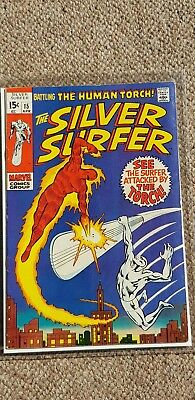 Marvel silver surfer number 15 human torch kirby