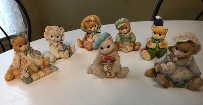 Lot Of 7 Calico Kittens By Enesco