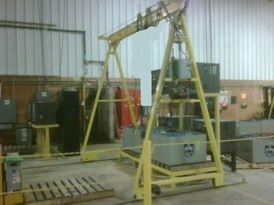 2 TON GANTRY CRANE - POWERED - can use with lodestar or Coffing hoist