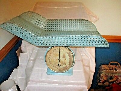 Vintage Chatillon 30 Pound Baby Nursery Weight Scale w/Attached Metal Basket