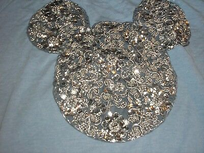 Medium Woman's Mickey Mouse Sequined Long Sleeved Tee Shirt NWT Disney Parks