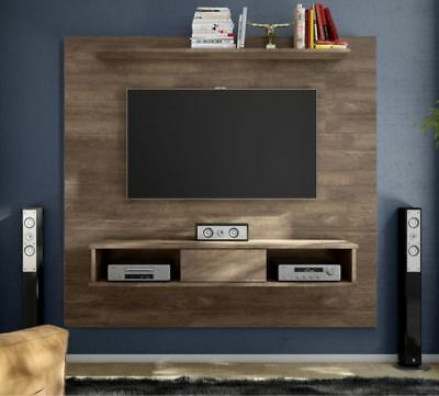 70 Inch Entertainment Center Floating Rustic Wall Unit Mount Media