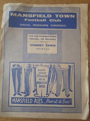 1961/2 FA Cup 1 - Mansfield Town v Grimsby Town