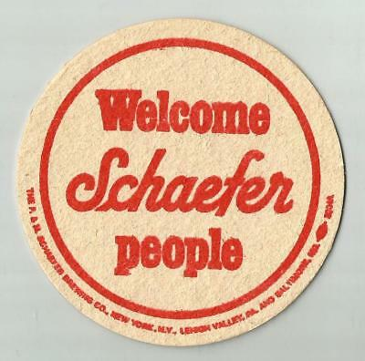 18 Schaefer  Welcome Schaefer People   Beer Coasters
