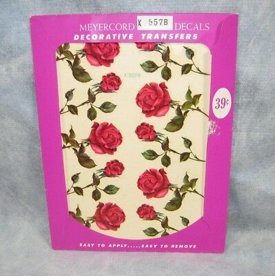Vintage MEYERCORD Roses Decals Decorative Water Transfers # X997B