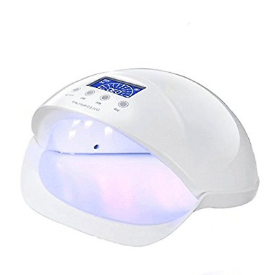 LED UV Nail Dryer Curing Lamp Gel for Polishs Nails Manicure Pedicure 50W(White)