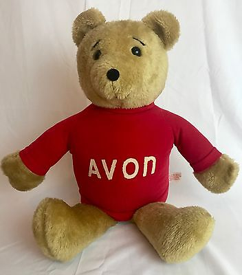 1977 Dealer Only Sales Rep Avon Teddy Bear Dan-Dee Imports Vtg Stuffed Animal