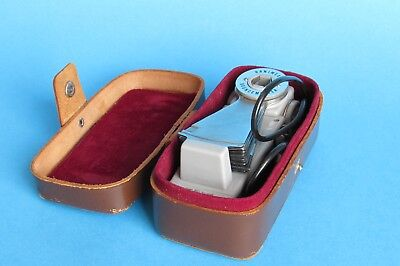 Hanimex Bouncemaster Vintage Camera Flash With Original Leather Case Japan