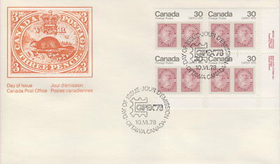 Canada #755 30¢ Queen Victoria Lr Plate Block First Day Cover