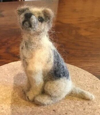 One Off Needlefelted Border Terrier