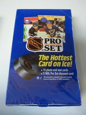 1990-91 Pro Set Series 1 NHL Hockey Factory Sealed Box of 36 Packs - Great RC's