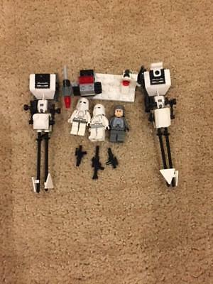 LEGO Star Wars 8084 snow trooper battle pack 99% complete Free speeder bike ship