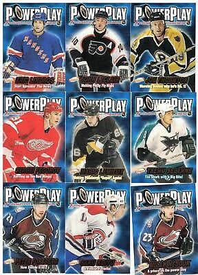 NHL Insert Tradingcard Lot – 2001-02 Atomic Power Play - 13 Cards