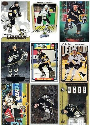 NHL Player Tradingcard Lot – Mario Lemieux – Pittsburgh Penguins - 11 Cards