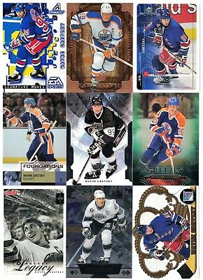 NHL Player Tradingcard Lot – Wayne Gretzky – Oliers/Rangers/Kings – 10 Cards