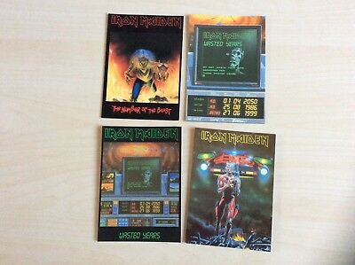 Iron Maiden postcards job lot somewhere in Time era , Number of the beast