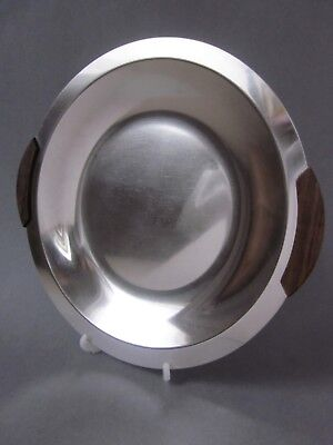 A Vintage Retro Danish 18-8 Stainless Steel Round Serving Dish / Tray C.1970's