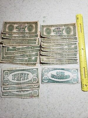 20 BULL-oney Play Money notes and 5 misc. other notes Novelty