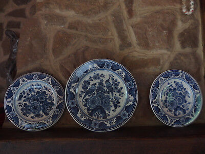 3 assiettes delft blauw handpainted made in holland