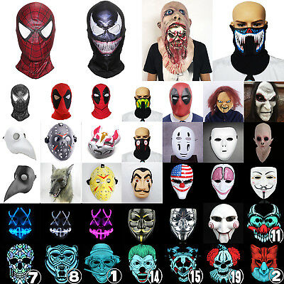 Halloween Maske Herro Volles Gesicht Cosplay Kostüm Party Zombie Clown Purge