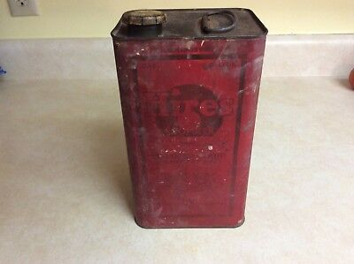 Antique HIRES ROOT BEER One Gallon Syrup Tin Can Advertising Soda Fountain Sign