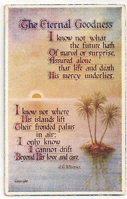 Vintage Postcard The Eternal Goodness - Valentines Helpful Thoughts - Whittier