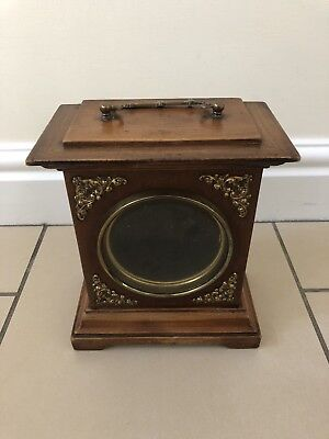 Vintage Oak Mantle Clock Case