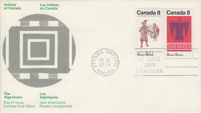 Canada #568-569 8¢ Algonkian Indians Pair First Day Cover
