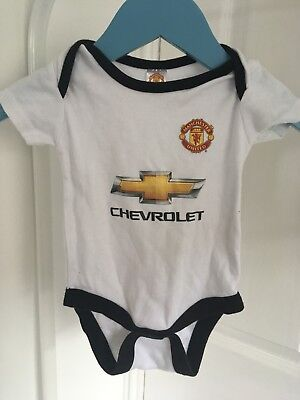 Manchester United Football Official Merchandise 3-6 Months Baby Vest Away Strip