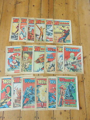 18 Wizard Comics - 1975/76