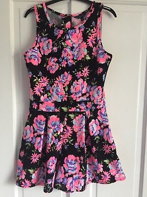 Girls floral PLAYSUIT age 12 - 13