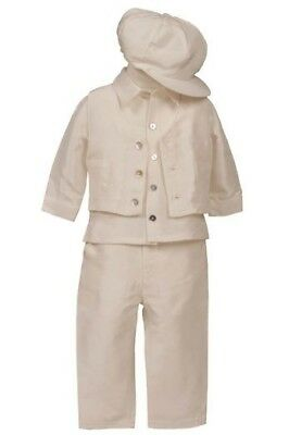 Heritage 'Joseph' 4 piece silk boys christening/occasions suit 3-6 months